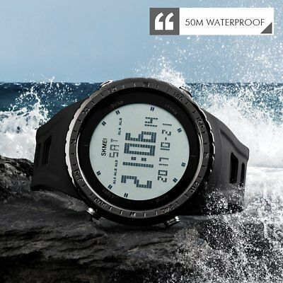 SKMEI Watch Sport Quartz Wrist Men Analog Digital Rubber Waterproof Military