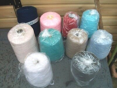10 cones joblot machine knitting yarn mixed makers shades plys