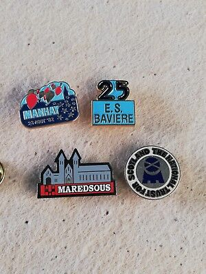 4 Pin's Pins Manhay Maredsous E.S. Bavière The national trust for Scotland