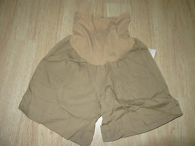 Womens Oh Baby By Motherhood Maternity Shorts Size M Khaki Secret Fit Belly