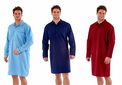 Mens Harvey James Woven Nightshirt Blue, Navy or Wine