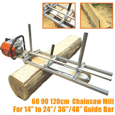 """60 90 120cm Chainsaw Mill Planking Milling From 14'' to 24""""/ 36''/48"""" Guide Bar"""