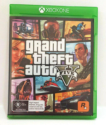 GRAND THEFT AUTO V - FIVE GTA for XBOX ONE AS NEW EX COND!