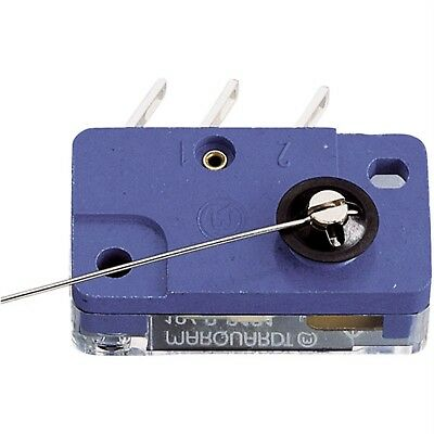 Marquardt 1040.0111 Momentary Microswitch 250V AC 4A SPDT On/On Wire Lever 0.9N