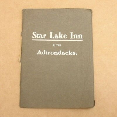Antique 1900's Star Lake Inn Brochure,Hotel Lodge in Adirondacks,NY Oswegatchie