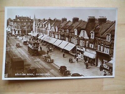 Real photo p/c Station Road Chingford 1950's