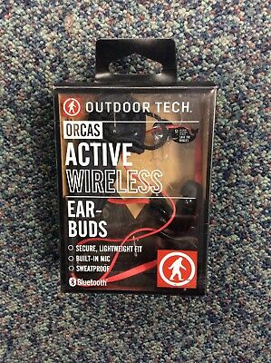 Outdoor Tech Orcas Active Wireless Ear-bud, Red