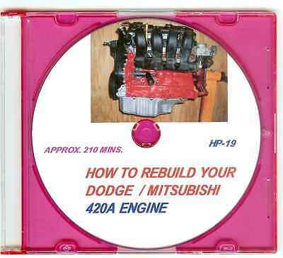 How to Rebuild a Dodge Neon Plymouth Mitsubishi 2.0 2.4 420A Engine. Video DVD