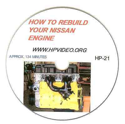 How to Rebuild your Nissan 200 240SX KA24 CA18 CA20 Z22 Engine Video Manual DVD
