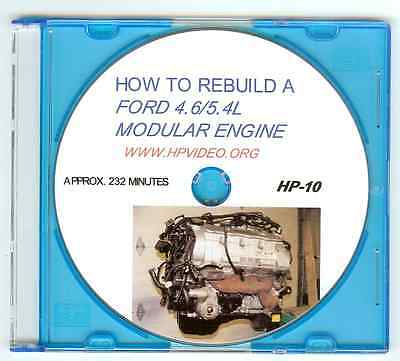 """How to Rebuild a Ford Mustang F150 4.6 5.4L Modular Motor Engine. Video """"DVD"""""""
