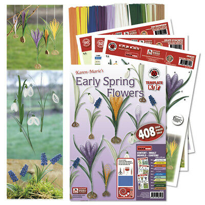 Karen Marie Klip: Quilling, Early Spring Flowers Kit