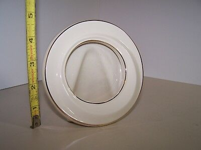 Lenox round self standing picture frame ivory with gold trim EPOC