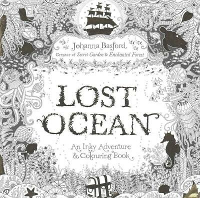 Lost Ocean: An Inky Adventure & Colouring Book by Johanna Basford Paperback Book