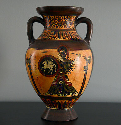 Athena and Olympic Athletes Panathenaic Amphora Vase Greek Replica Reproduction