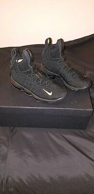 reputable site 38c5f 767c8 NIKE LEBRON 15 XV Black Gold Royalty Size 11. 897648-006 ...