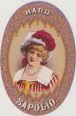 Woman in Red & White Hand Sapolio Soap Victorian Trade Card Enoch Morgan's Sons