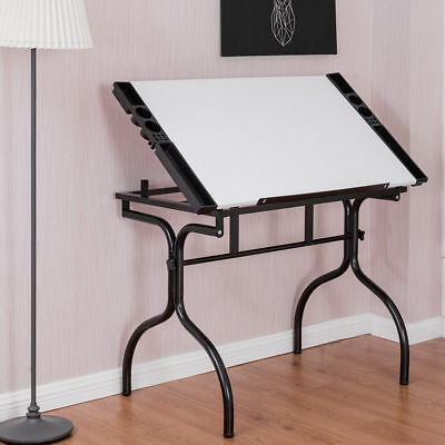 White Adjustable Drafting Table Drawing Paint Desk Art Hobby Craft Workstation