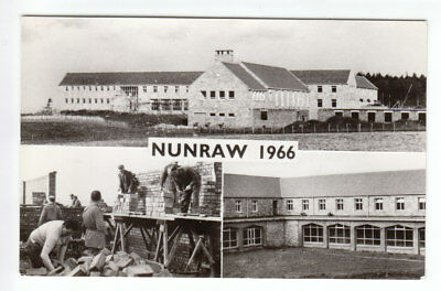 Nunraw Abbey Construction 1966 Haddington East Lothian Real Photograph Post Card