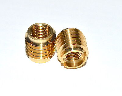 E-Z Lok Threaded Insert, Brass, Knife Thread, M5-,8P Internal Threads Pkg of 10