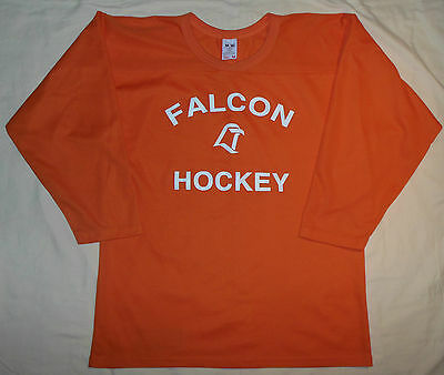 48b427d0c Rare Vtg 90's NCAA Bowling Green State Falcons Hockey Jersey By SP Orange  Mens M