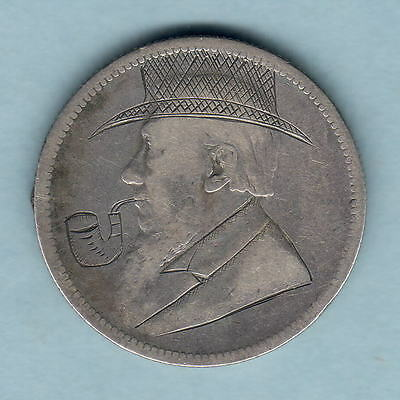 "South Africa - Trench Art. 1893 Florin - Kruger with Hat & Pipe.. ""Fine"""