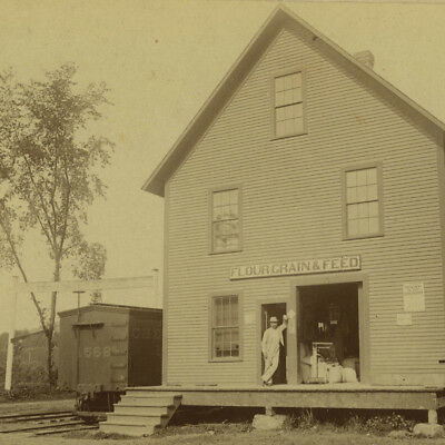 Antique 1880's Photo,Flour & Grain Mill on Railroad,Cambridge,MA Cambridgeport