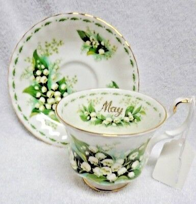 Royal Albert Flower of the Month May Cup and Saucer 1970