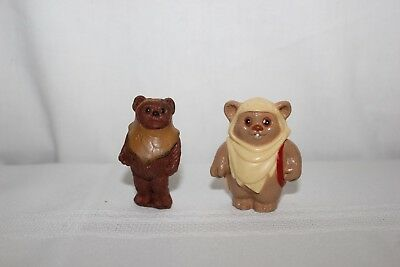 vintage star wars the return of the jedi lot of 2 ewok action figures