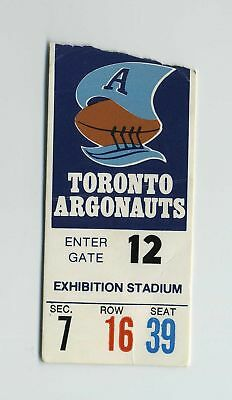 Vintage Toronto Argonauts Football Game Ticket Stub Ontario Canada CFL wz2318