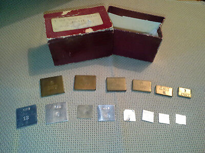 Vintage Apothecary & Gold Scale, 2 Sets Matched Weights Dwt, Grain, Original Box