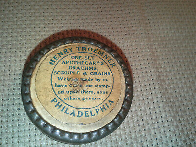 Troemner Apothecary Pharmacy Scale Weight Set, Orig. Box, Complete
