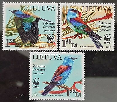 Lithuania 2008 WWF Birds Mint MNH Stamps