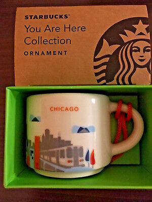 Starbucks 2oz Demitasse YAH CHICAGO, Illinois You Are Here Mini mug Espresso cup