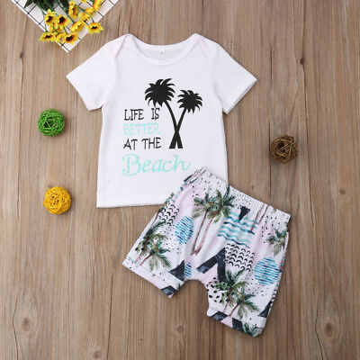 Baby Boy Girl Clothes Kids Boys Clothing Suits Outfits Sets T-shirt + Pants