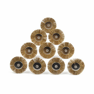 50Pc 25mm Brass Wire Wheel Brush Set Kit Grinder Rotary Rust Removal Accessories