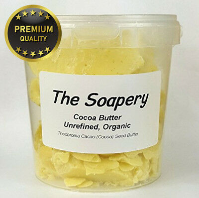 Cocoa Butter 1kg - Certified Organic Raw Unrefined Pure