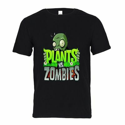 Plants vs Zombies  Mens Pure Cotton T-shirt Crew Neck Tee Casual Basic Top Shirt