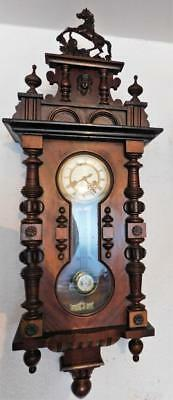 walnut cased gustav becker vienna wall clock