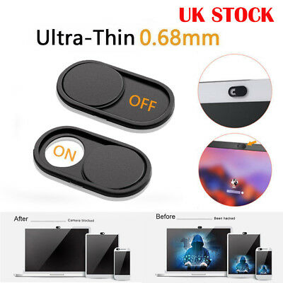 UK WebCam Cover Open/Close Camera Privacy Sticker For Tablet Laptop Phone Device