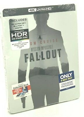 Mission: Impossible - Fallout (4K Ultra HD+Blu-ray+Digital, 2018; SteelBook) NEW