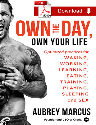 Own the Day, Own Your Life (2018) by Aubrey Marcus EB¤¤K