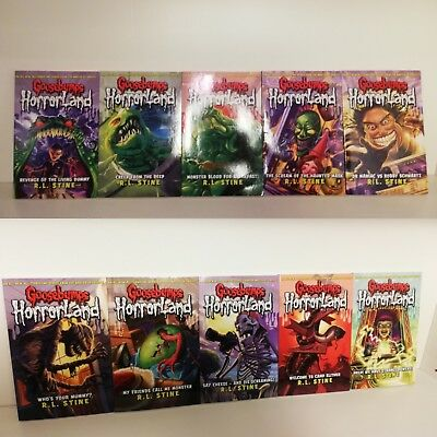 Goosebumps Series By R L Stine 10 Books Collection Set One Day at Horrorland