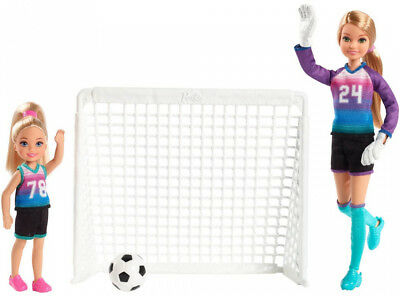 Barbie Team Stacie Doll and Chelsea Doll Soccer Playset Kid Toy Gift