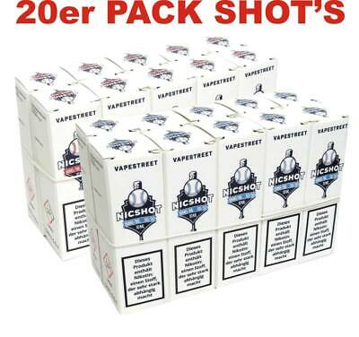 20 x 10ml Nikotin Shot Nikotinshots Shots 18mg/ml Base Nikotin Shots E Liquid