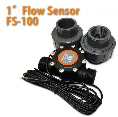 """Neptune Systems 1"""" Flow Sensor FS-100 with Adapters for Aquarium NEW"""