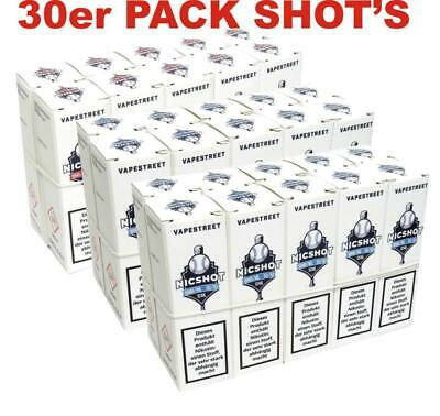 30 x 10ml Nikotin Shot 30 Nikotin Shots 18mg/ml Base E Liquid