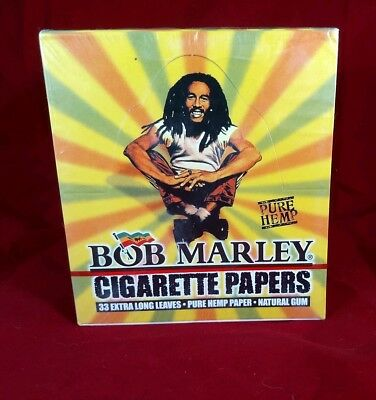 Bob Marley Pure Hemp King Size Rolling papers 25 Packs w/33 Leaves