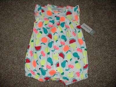 8ee05c2ac080 Carter s Baby Girl White Fruit Summer Romper Outfit Size 6 Months 6M 3-6 mos