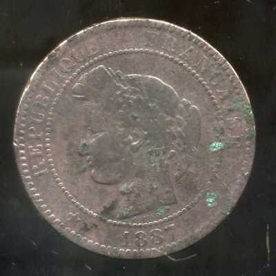 FRANCE   FRANCIA   10 centimes ceres 1887 A  ( 4 )