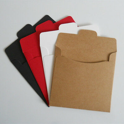 12.5x12.5cm Colorful Kraft Paper CD Pack Stock Bag Envelope Wedding Sleeve Pouch